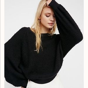 Free People black sweater top Size Small